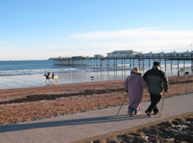 Winter walk on Paignton beach